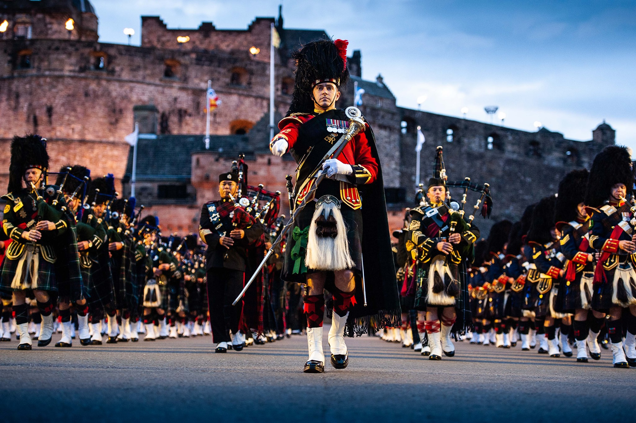 Pipe Major Heading the way for The Edinburgh Military Tattoo