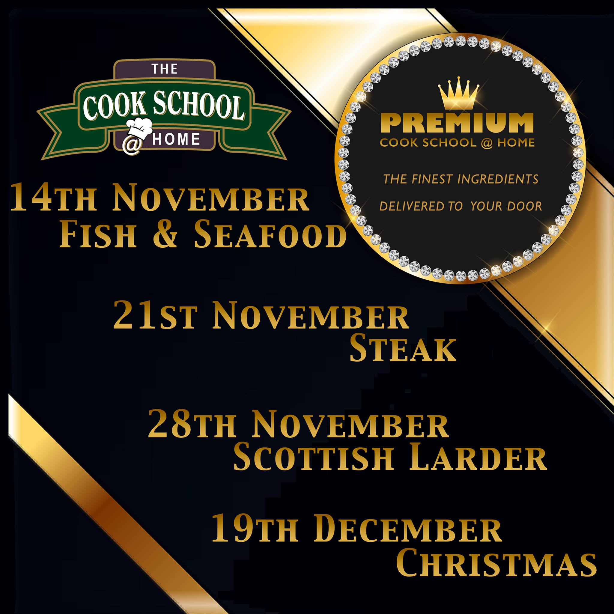 Text advertising Cook School Scotland class dates.