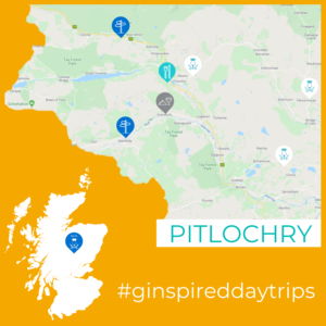 Map of Pitlochry region for Ginspired Day Trip