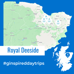 Map of Royal Deeside for Day Trip