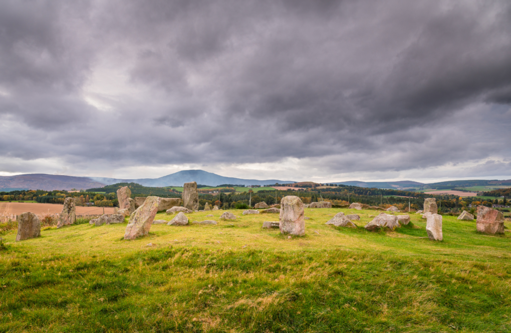 Stone Circle at Tomnaverie for Ginspired Scotland Royal Deeside day trip series.