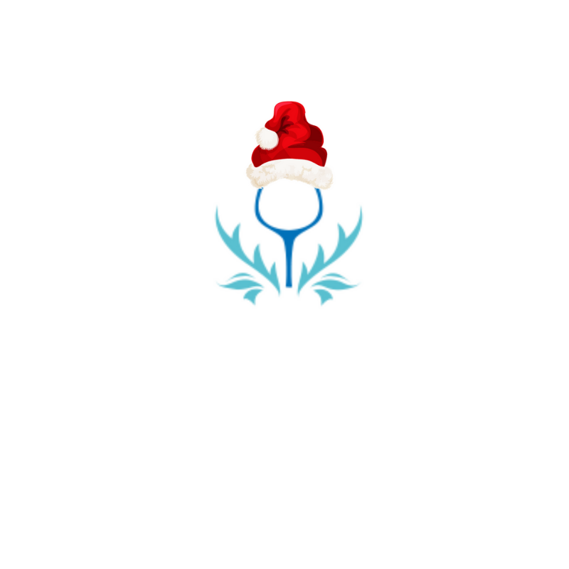 Ginspired Logo 'Drew' in his Christmas hat