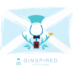 Ginspired Scotland Logo ready for Burn's Night.